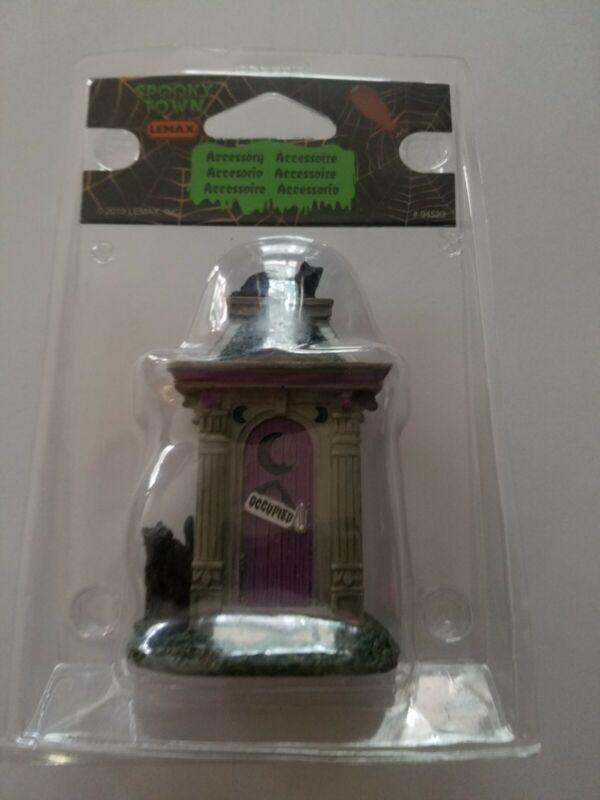 Lemax 94523 HAUNTED OUTHOUSE Spooky Town Accessories Halloween Decor I
