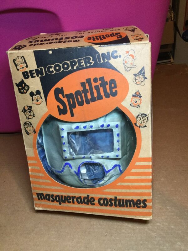Vintage Ben Cooper Spotlite Masquerade Costume SPACE COMMANDO With Box Halloween