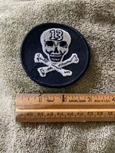 Vintage Early 1970's Skull and Crossbones 13 Hippie Cloth Patch