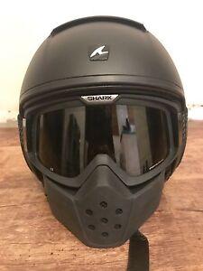 Shark Raw Matte Black Helmet size S Nollamara Stirling Area Preview