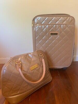 - Joy Mangano & IMAN champagne quilted carry-on luggage set! FREE US SHIPPING