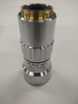 Mitutoyo 1x M Plan Apo 0.025 F 200 Microscope Lens 1 X 0.025