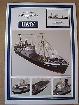 Wuppertal 1955 Fischdampfer Kartonbausatz *NEU* Bastelbogen Kartonmodell HMV