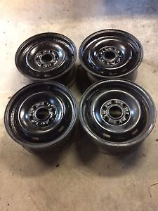 "4 Gm 1/2 ton oem 16"" steel rims"
