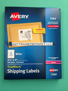Avery 5164 labels ebay avery 5164 laser shipping labels 3 13 x 4 600 labels 100 sheets pronofoot35fo Image collections