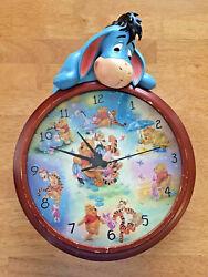 Bradford Exchange Disney Eeyore Winnie the Pooh Wall Clock