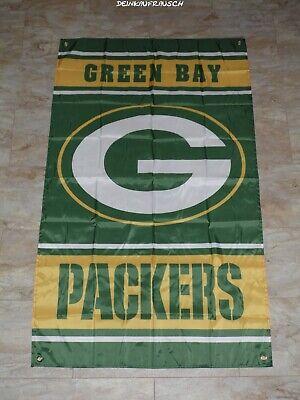 Green Bay Packers NFL Fahne / Flagge - Football - ca. 90x150cm  - #10 - NEU