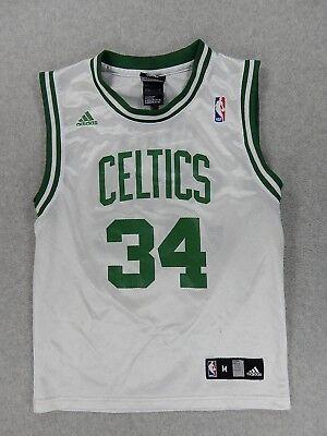 Boston Celtics Replica Screened Basketball Jersey (#34 Pierce) Youth Medium (34 White Replica Basketball Jersey)