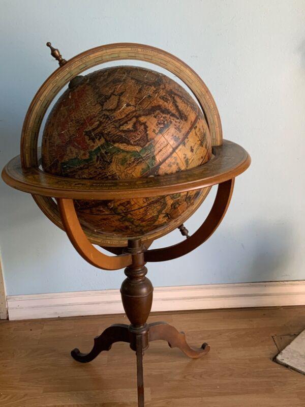 Rare Large Vintage Obis  Terrarum Vniversal 17th Century Floor Globe