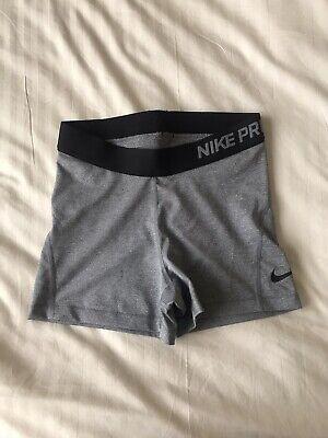 Nike Pro Dri Fit Grey Shorts Size Small