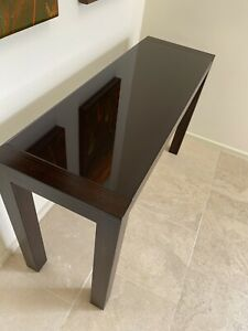Hall Table - quality solid wood with glass top