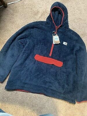 Mens The North Face CAMPSHIRE PULLOVER HOODIE XXL FLEECE 2XL NAVY/RED NWT $149