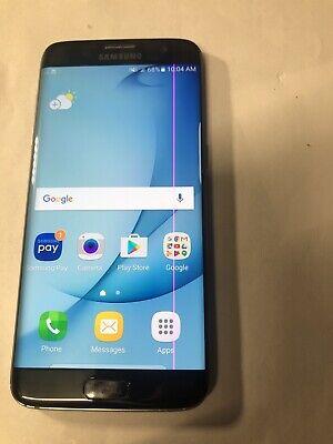 Imperfect Samsung Galaxy S7 Edge Black G935U CDMA & GSM Unlocked THIN LINEPIXEL