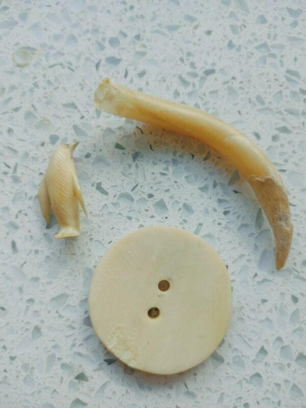 Bad To The Bone Alaska Native Bone Button Group