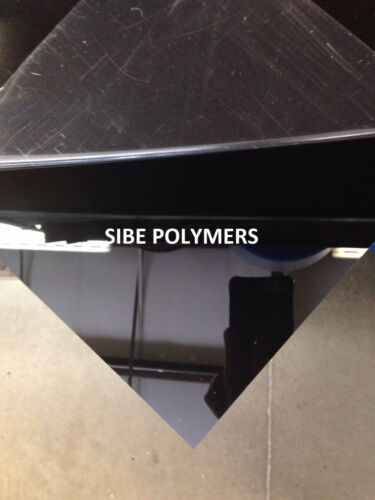 "Black Plexiglass Cast Acrylic Sheet - 12"" X 24"" X 1/4"" ^"