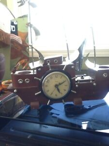 Vintage wooden ship clock