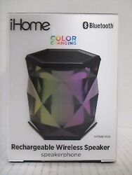 iHOME COLOR CHANGING RECHARGEABLE WIRELESS SPEAKER - iBT68BC - RC 4457