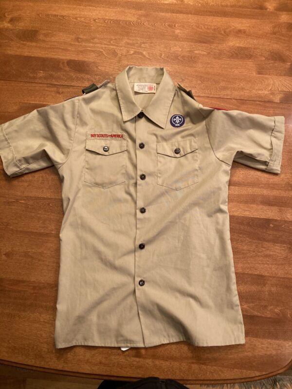 Boy Scout BSA UNIFORM SHIRT Youth Large, Short Sleeve