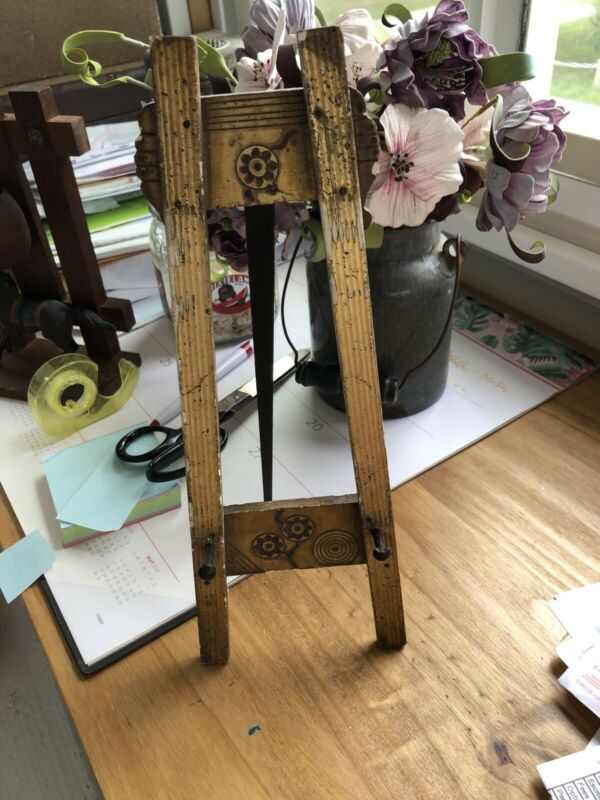 Antique Carved And Gilded Wood Small Vintage Folding Easel