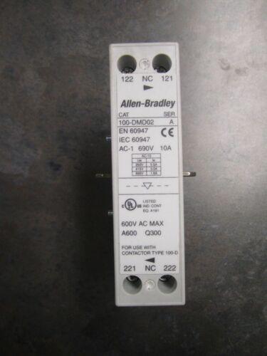 NEW ALLEN BRADLEY 100-DMD02 MECHANICAL INTERLOCK REMOVED