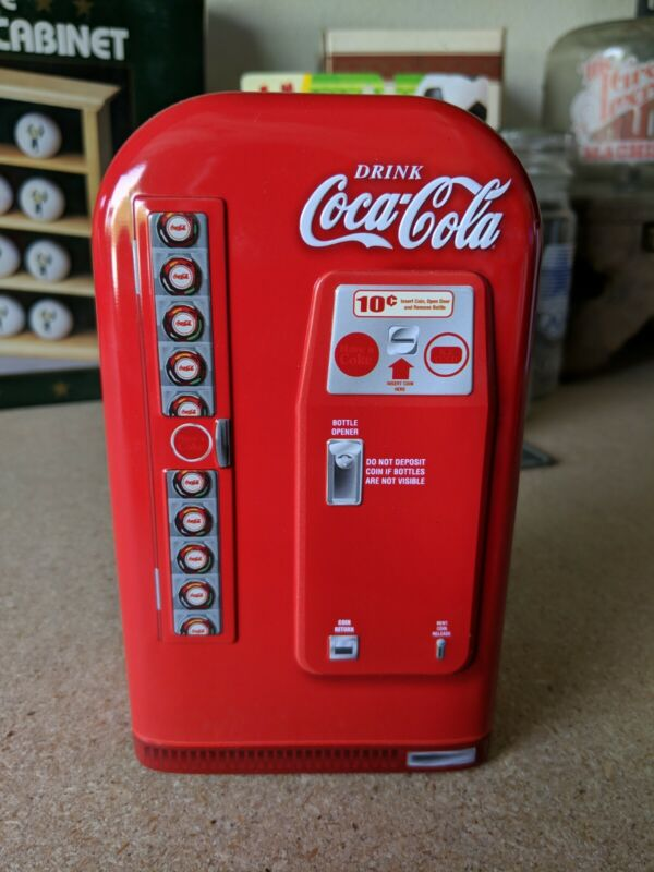 Coca Cola Vending Machine Red Coke Tin Metal Box Collectible Gift
