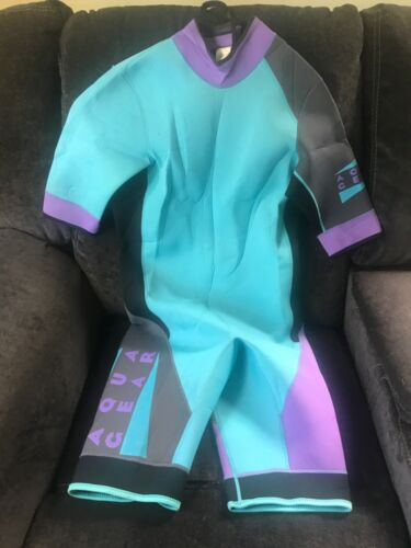 Vintage NIKE AQUA GEAR Neoprene Wetsuit Surfing Water Sports Mens Medium '90s