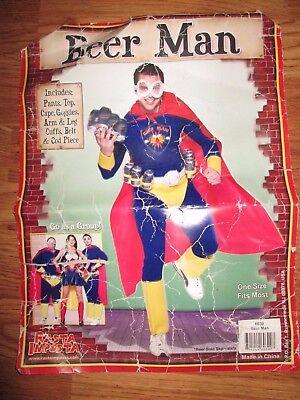 Mens BEER MAN SUPER HERO Halloween Costume One size Fits Most  Rasta Imposta (Beer Man Halloween Costumes)