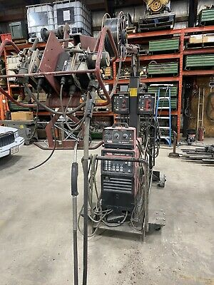 Lincoln Power Wave 450 Dual Wire Feeders With Tig Module Migtigstick Will Ship
