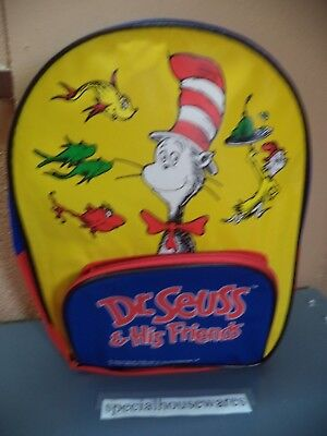 Dr. Seuss & Friends Cat In The Hat Backpack Multi-Color Nylon 2 Pockets $0 - Cat In The Hat Toy