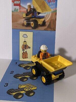 100% complete vintage LEGO Town Jr. City Mini Dump Truck (6470) w/ instructions