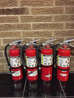 SET OF (4) REFURBISHED 5lb ABC FIRE EXTINGUISHER CERTIFIED TAG  (Nice)