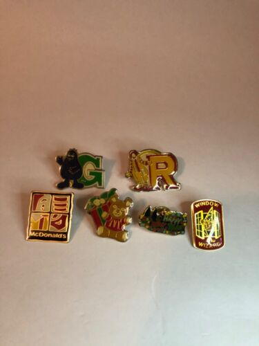McDonald's Employee Pin Lot (Ronald, Grimace, Window Wizard) Good Condition