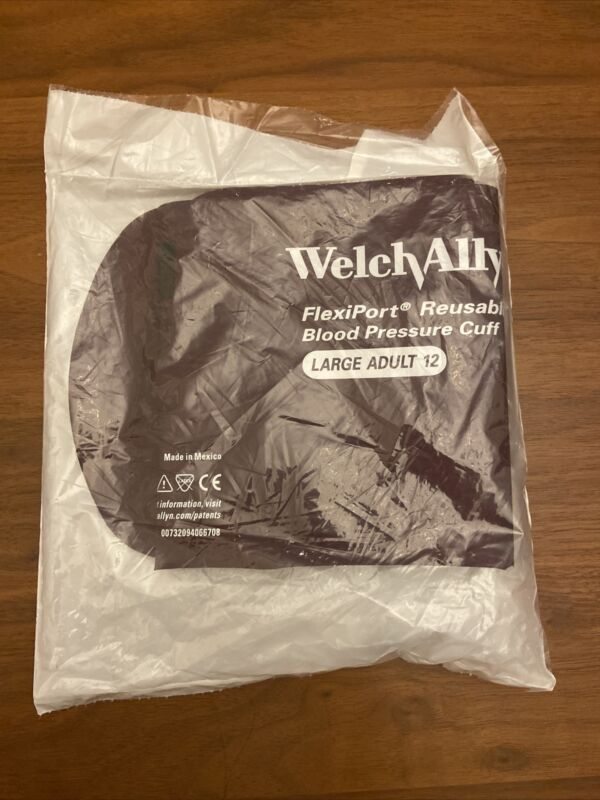 Welch Allyn FlexiPort Blood Pressure Cuff Size-12L Large Adult Long Reusable ...