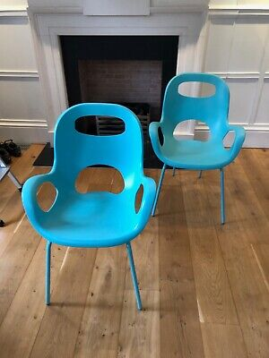 Blue, stackable Umbra Oh dining chair, 2 available