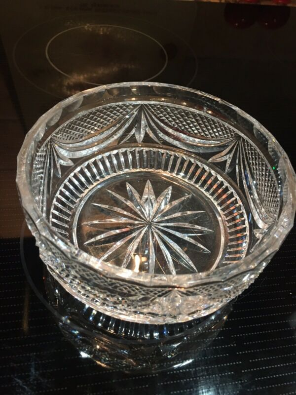 "KINSALE CRYSTAL 5 7/8"" BOWL FROM IRELAND-Great Condition"