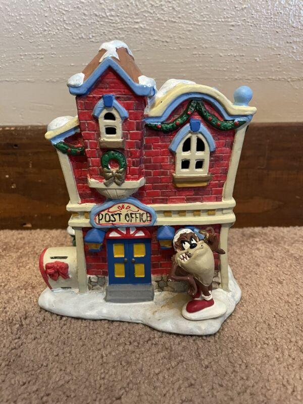 Matrix Looney Tunes 1996 Taz Post Office Porcelain Christmas House-No Light Cord