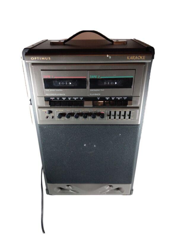 Optimus Kareoke Machine!! Cat. No. 32-1161 Dual tape Cassette deck!!