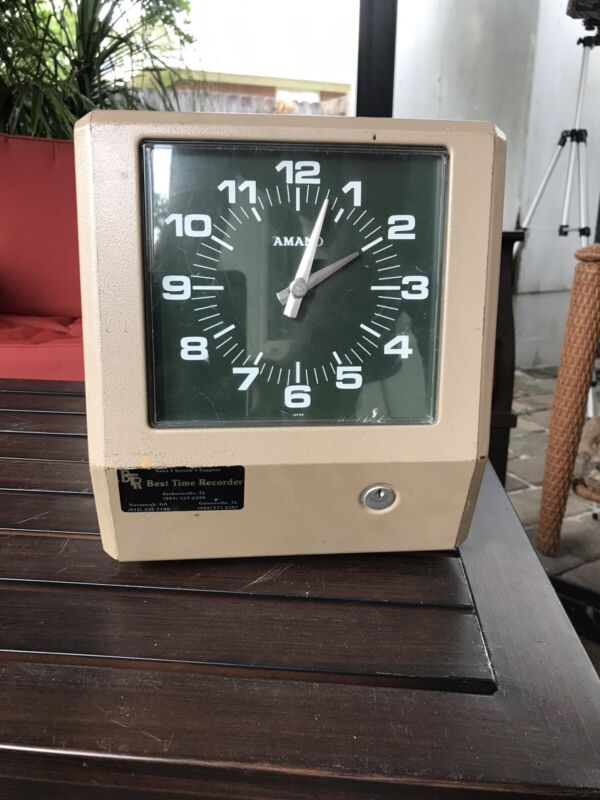 Vintage Amano Model 6309 Consecutive Punch Time Clock