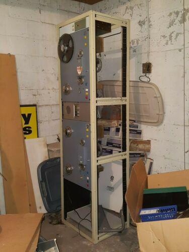 Vintage Pro Radio Station Rack & Components Bundle. WARU AM 1600 & FM 98.3- RARE