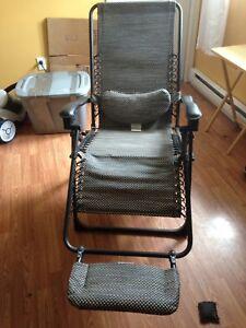 Zero gravity chair.