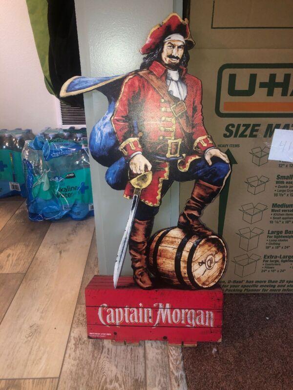 "28"" Tall Captain Morgan 1/4"" Thick Solid Sign Bar Man Cave!!! Advertising"