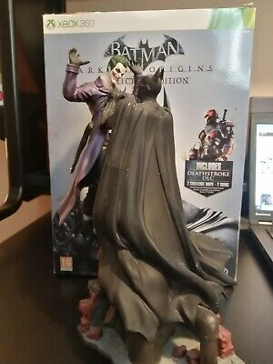 Xbox 360 Arkham Origins Collectors Edition Statue comic art book NO GAME