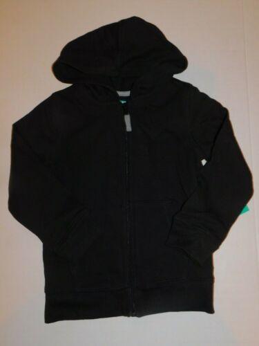 Sweat Jacket Hoodie Toddler Boys 5 5T Black