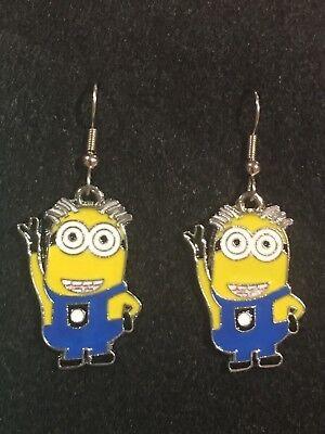 MINION Earrings Surgical Hook New Cartoon (F) Metal -