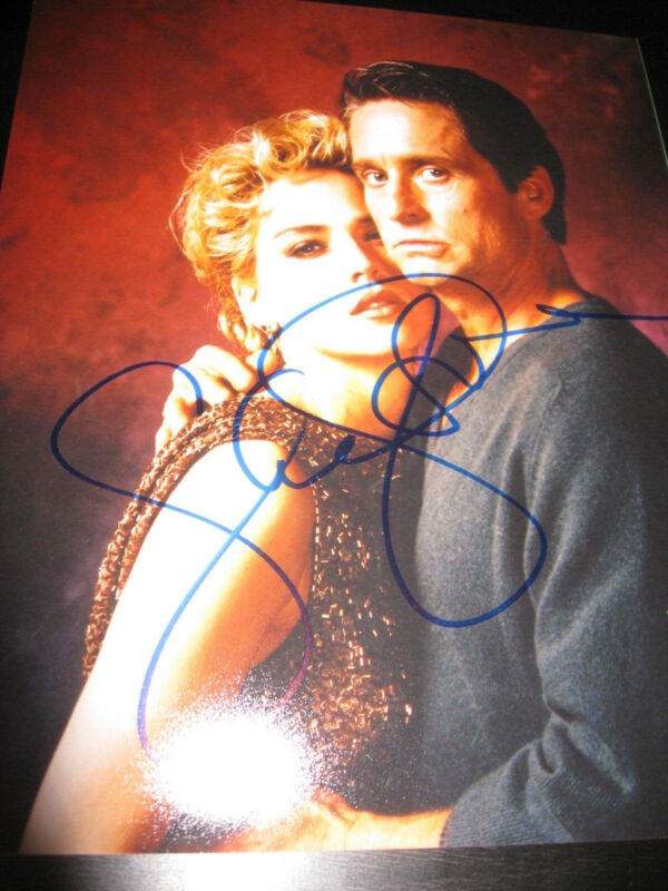 SHARON STONE SIGNED AUTOGRAPH 8x10 PHOTO BASIC INSTINCT PROMO COA AUTO RARE X1