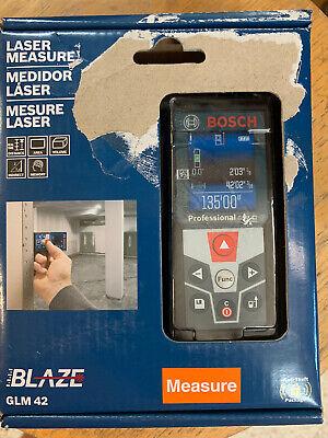 Bosch Glm 42 Blaze Laser Measure 135ft 40m