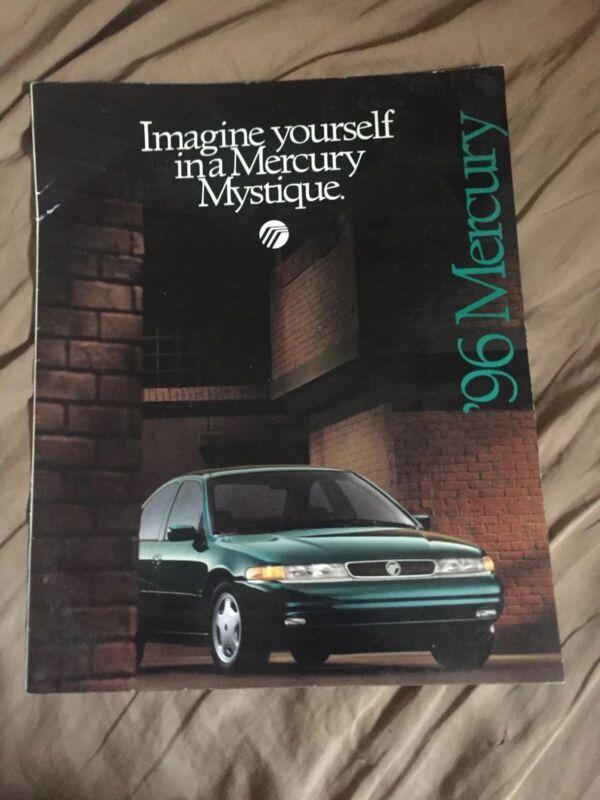 1996 Mercury Mystique Original Brochure Catalog Prospekt
