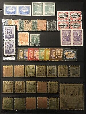 Bolivia Small Group Of 49 Stamps. (Note Imperfs And Overprint Errors)