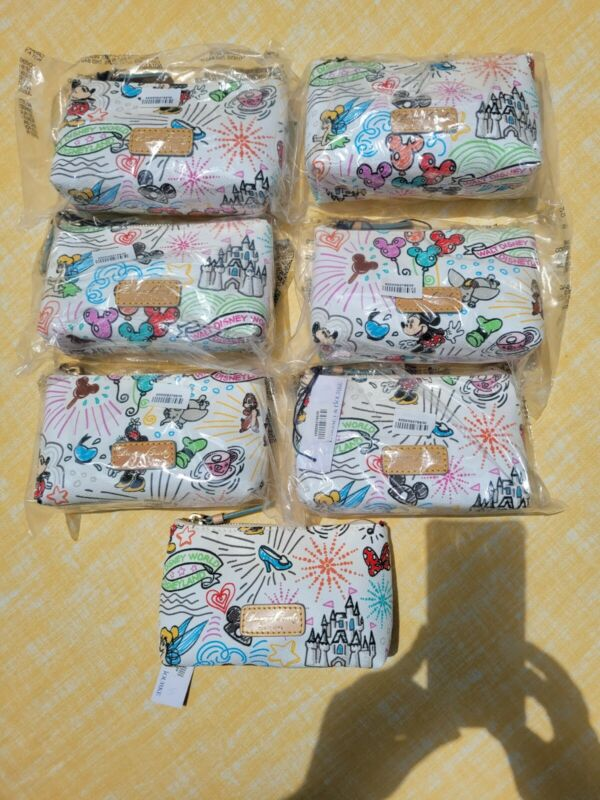 NWT DISNEY Parks DOONEY BOURKE SKETCH ICON COSMETIC BAG PICK YOUR PLACEMENT!!!