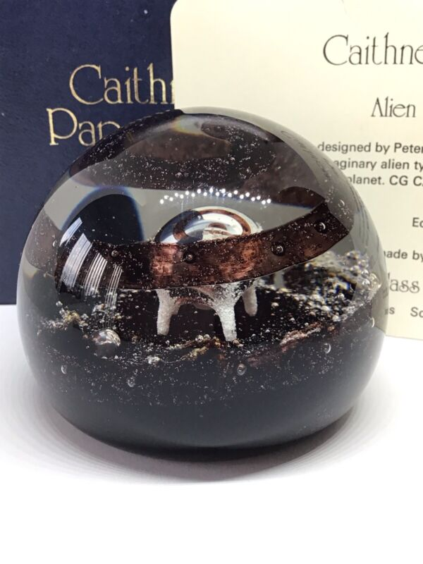Caithness Glass Alien Paperweight Limited edition 1742/2000 Boxed, Marked.
